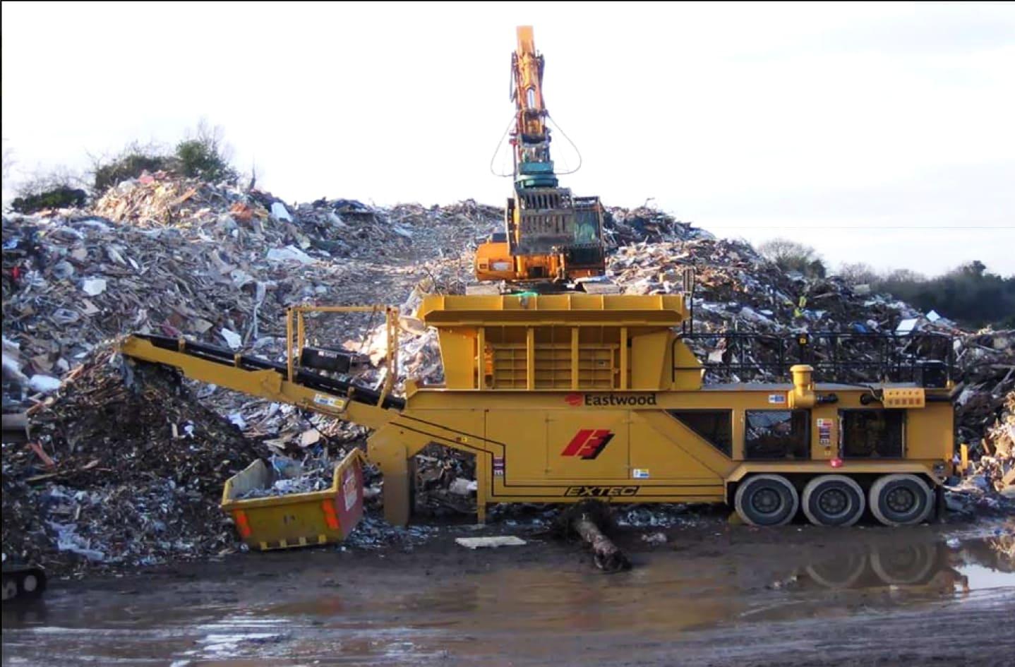 работы на мусорном полигоне